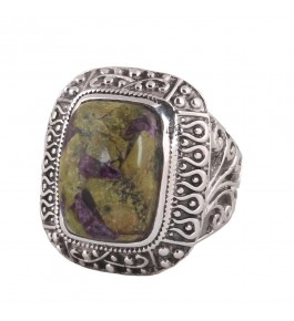 Shree Jaipur Silver Stichilite Stone Ring