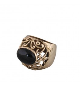 Shree Jaipur Silver Black Onyx Stone Ring