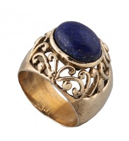 Shree Jaipur Silver Lapis Stone Ring