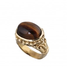 Shree Jaipur Silver Tiger Eye Stone Ring