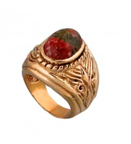 Shree Jaipur Silver Ruby Zoisite Stone Ring