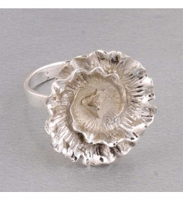 Shree Jaipur Silver Plain Stone Ring