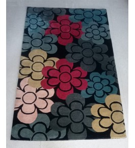 Beautiful Hand Tufted Multicolour Flower Design Pure Wool & Cotton Mirzapur Dari For Home Decor/Living Room/Bedroom (5 x 8 Ft).