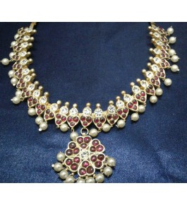 Beautiful Temple Jewellery of Nagercoil for Women Gold Plated Necklace for Traditional Occassion