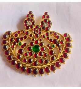 Bharatnatyam Hair Accessory  of Temple Jewellery of Nagercoil Big Half Moon Designed for Women