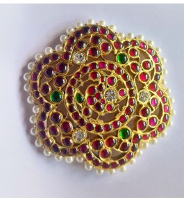 Bharatnatyam Hair Accessory  of Temple Jewellery of Nagercoil Big Sun Flower Designed for Women
