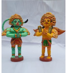 Handmade Beautiful Pair Wooden Kinhal Toys for Decoration