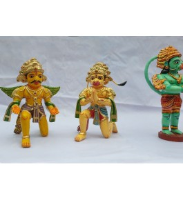 Handicrafted Beautiful Pair Wooden Kinhal Toys for Decoration and Kids
