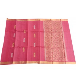 Handloom Champa Silk & Fabrics Attractive Flower Print Designer Saree for Women