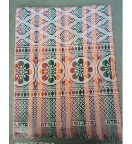 Traditional Handloom Solapur Chaddar Beautiful Multicolour Cotton Bed Sheet For Home Furnishing