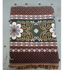 Traditional Handloom Solapur Chaddar Beautiful Brown Colour Floral Print Cotton Bed Sheet For Home Furnishing