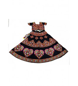 Handicraft Kutch Embroidered Designer Antique Mirror Work Chaniya Choli