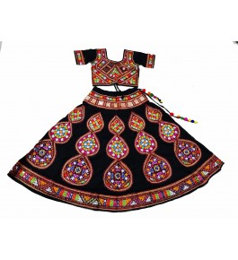 Handicraft Kutch Embroidered Designer Beautiful Mirror Work Chaniya Choli In Multi Colour