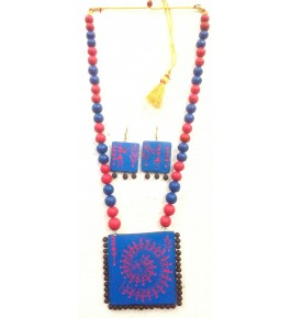 Bankura Panchmora Terracotta Crafts Necklace Set For Women