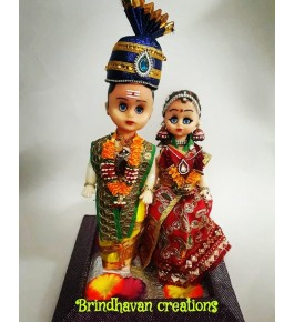 Handmade Wedding Doll Pair Of Plastic  for Home Decoration By Brindhavan Creations.
