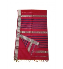 Maheshwar Cotton Silk Red Saree For Women By Rang Boutique