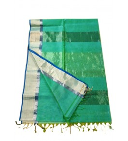 Maheshwar Cotton Silk Green Saree For Women By Rang Boutique