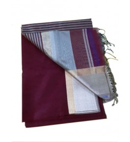 Maheshwar Cotton Silk Brown Saree For Women By Rang Boutique