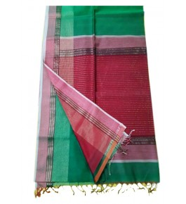 Maheshwar Cotton & Silk Green Saree For Women By Rang Boutique