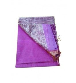 Maheshwar Cotton Silk Light Purple Saree For Women By Rang Boutique