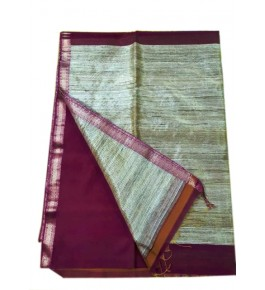 Maheshwar Cotton & Silk Brown Saree For Women By Rang Boutique