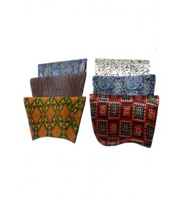 Traditional Handmade Kutch Embroidery Foldover Clutch/Sling Purse for Women (Set of 4 bags)