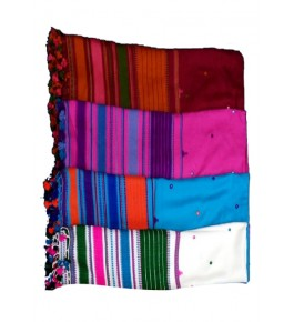 Traditional Handmade Kutch Embroidery Cotton Duppata for Women (Set of 4 Duppata)