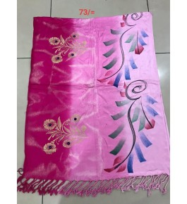 Beautiful Viscose Reyon Satin Multicolor Stole For Women