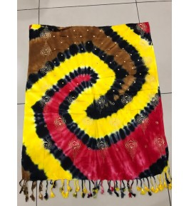 Beautiful Viscose Rayon Satin Multicolor Stole for Women & Girls