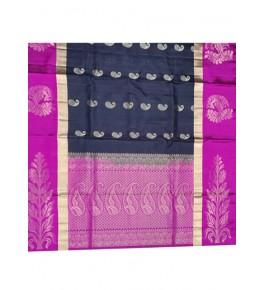 Dynamic Pink & Black Coloured Border Kovai Kora Cotton Sarees for Women