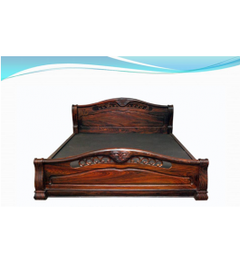 Beautifully Designed Rosewood Inlay Wooden Cot Size
