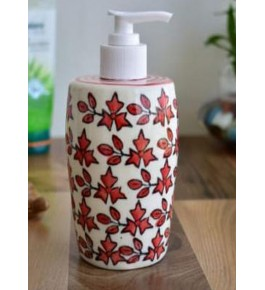 Bulandshahar Pottery Ceramics Soap Dispenser for Home Decor