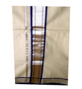 Traditional Balaramapuram  Cotton Saree with Golden & Blue Border for Women