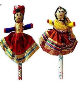 Handmade Wooden Beautiful Dancing Couple of Rajasthan for Decorating purpose