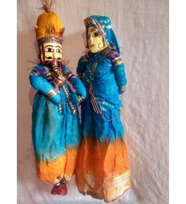 Beautiful Handmade Dancing Couple of Rajasthan for Decorating purpose