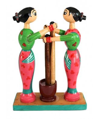 Traditional Channapatna Wooden Working Women Toy For Playing & Decoration Purpose