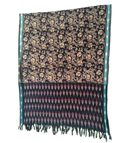 Machilipatnam Kalamkari Ikkat Cotton Dupatta with Beautiful Border for Women