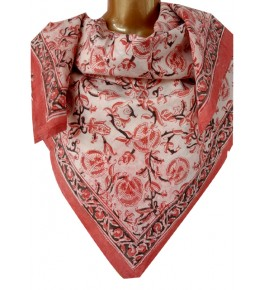 Machilipatnam Kalamkari Cotton Pink Color Scarve for Women
