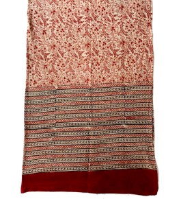Machilipatnam Kalamkari Cotton Beautiful Stole for Women