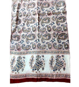 Machilipatnam Kalamkari Cotton Beautiful Print Stole for Women