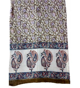 Machilipatnam Kalamkari Cotton Beautiful Flower Print Stole for Women