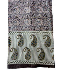 Machilipatnam Kalamkari Cotton Beautiful Printed Design Stole for Women