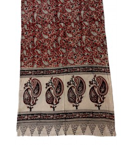 Machilipatnam Kalamkari Cotton  Stole for Women