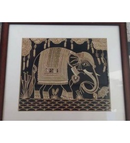 Sikki Grass Of Bihar Craft Elephant Painting