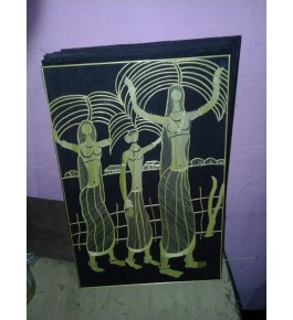 Handmade Sikki Grass Of Bihar Three Ladies Painting