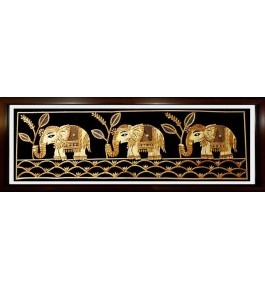 Sikki Grass Of Bihar Elephants Painting