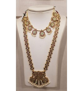 Temple Jewellery of Nagercoil for Women Long Necklace for Traditional Occassion