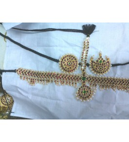 Temple Jewellery of Nagercoil for Women Head Covering Mangtika for Traditional Occassion