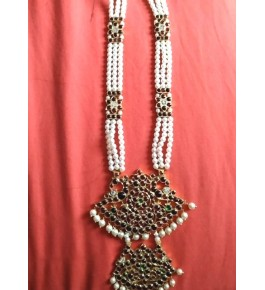 Designer Temple Jewellery of Nagercoil for Women Pearl Necklace for Traditional Occassion