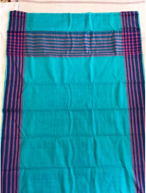 Latest Beautiful Handloom Blue Colour Kota Doria Saree For Women